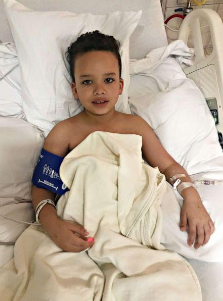PHOTO: Levi Nobles, 7, was hospitalized for seven days with COVID-related, multi-inflammatory disease. (Courtesy Hannah Peck)