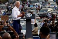 FILE PHOTO: Democratic U.S. presidential nominee Biden campaigns in Georgia