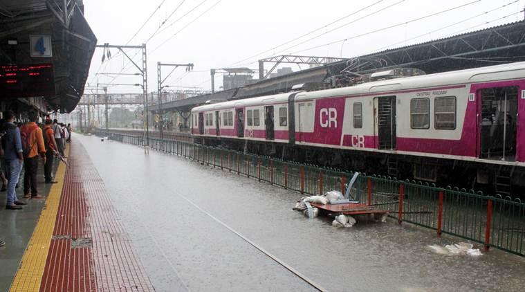 mumbai news, pune to mumbai trains, central railway services halt, mumbai rains, mumbai weather, mumbai rains forecast, imd, indian express