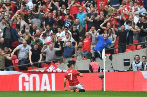 Specialist: Alexis Sanchez scored his eighth goal in eight games at Wembley in the semi-final