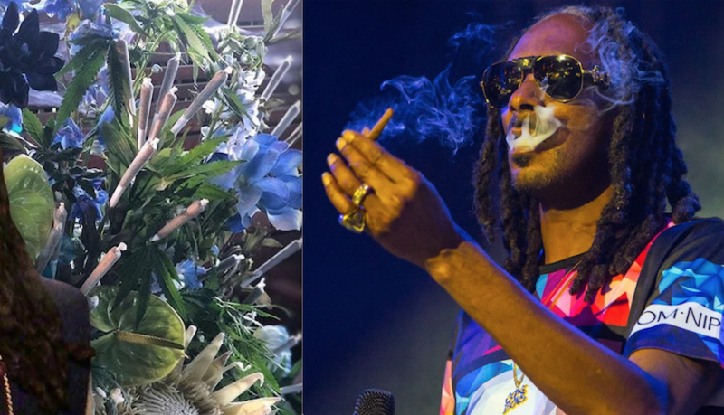 Snoop Dogg received a bouquet with 48 joints to celebrate his birthday