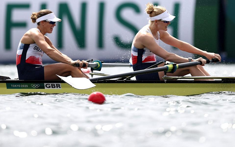 The British duo fell just short of a medal - GETTY