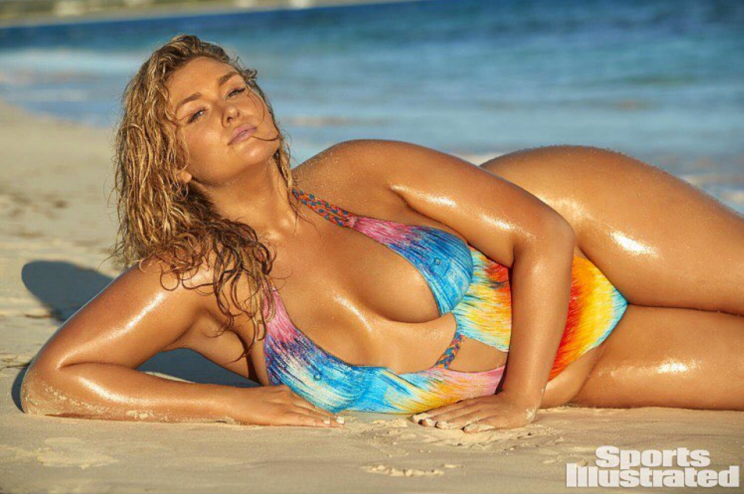 Hunter McGrady poses in body paint for Sports Illustrated's 2017 swimsuit Issue.