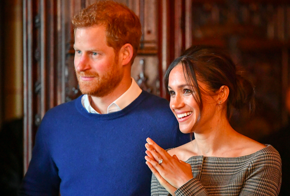 <em>Prince Harry and Meghan Markle will wed on Saturday (Rex)</em>