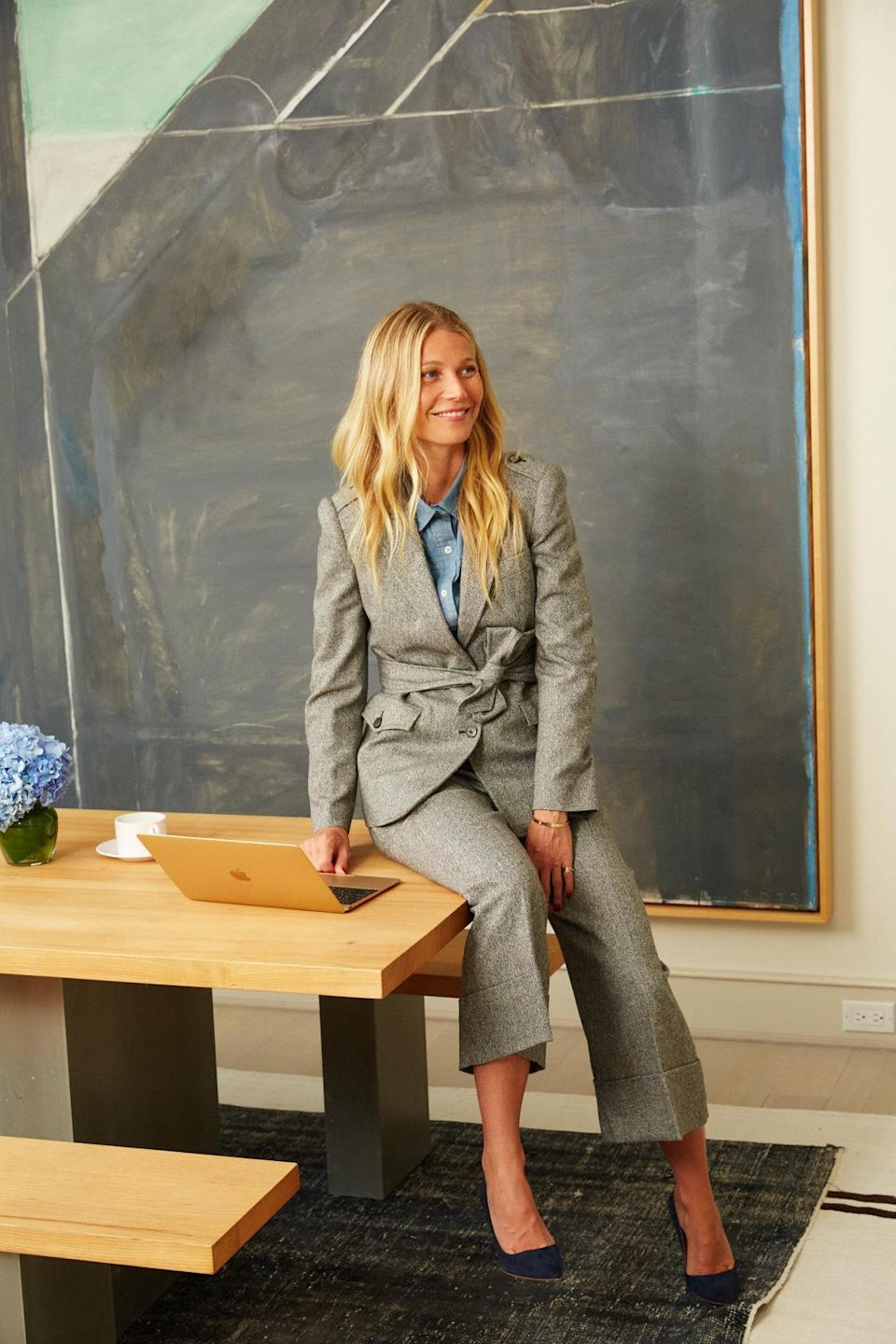 <p>Gwyneth Paltrow herself in the September edition</p>