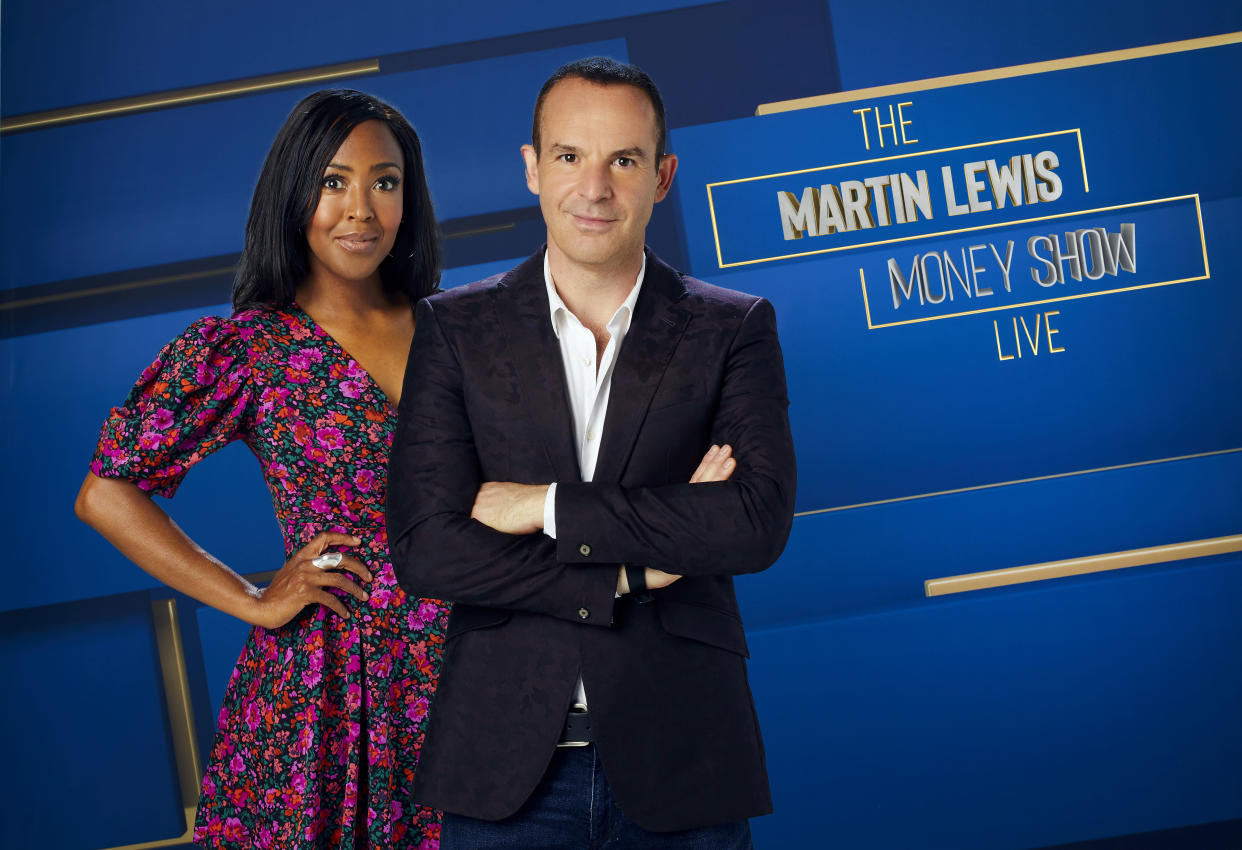 Angellica Bell and Martin Lewis give viewers up-to-date financial advice. (ITV/MultiStory Media)