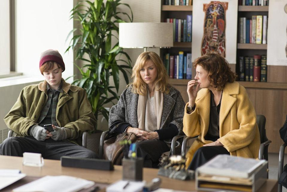 Elle Fanning, Naomi Watts and Susan Sarandon in '3 Generations' (credit: The Weinstein Company)