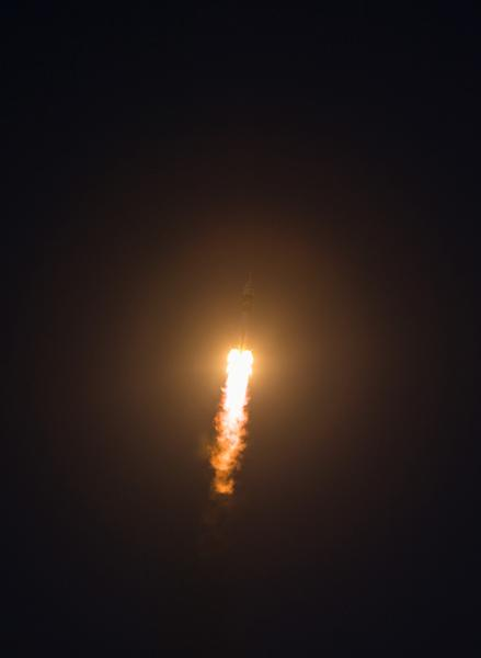 The Soyuz TMA-07M rocket carrying three spacewalkers to the International Space Station launch early Wednesday morning.