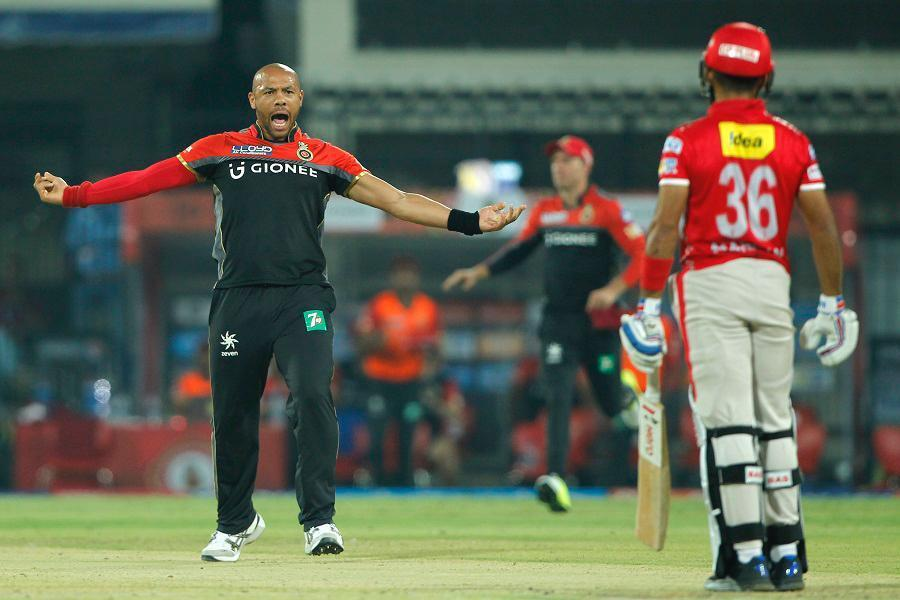 Tymal Mills in action for the Royal Challengers BangaloreRoyal Challengers Bangalore