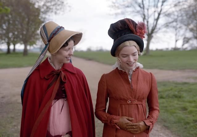 Mia Goth and Anya Taylor-Joy take a stroll in a still from <em>Emma</em>. (Focus Features)