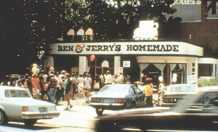 The ice cream company began in a former gas station in Burlington, Vermont. (Photo: Ben & Jerry's)
