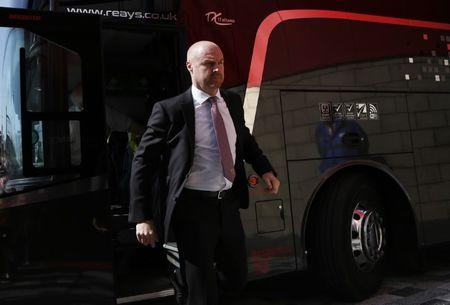 Burnley manager Sean Dyche arrives before the match