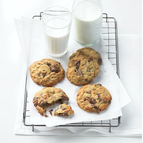 """<p>The just-about perfect chocolate cookie recipe<br>Would you rather spend £1.50 on one cookie from a posh bakery - or pass an enjoyable half-hour making a whole batch to savour and share? Fresh from the oven, nothing beats these delicious chocolate chip treats!<br><br><strong>Recipe:</strong> <a href=""""https://www.goodhousekeeping.com/uk/food/recipes/The-just-about-perfect-chocolate-chip-cookie"""" rel=""""nofollow noopener"""" target=""""_blank"""" data-ylk=""""slk:The just-about perfect chocolate chip cookie"""" class=""""link rapid-noclick-resp"""">The just-about perfect chocolate chip cookie</a><br> </p>"""