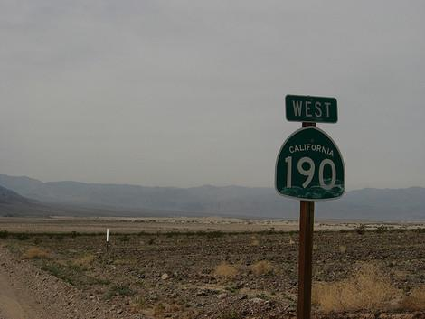 California State Highway 190 runs through Death Valley. (Photo courtesy of flickr.com/photos/kenlund.)