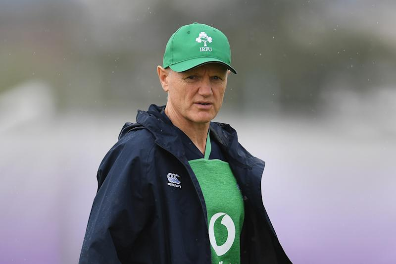 Ireland's head coach Joe Schmidt takes part in a training session at the Ichihara Suporeka Park in Ichihara on September 18, 2019, ahead of the Japan 2019 Rugby World Cup. (Photo by CHARLY TRIBALLEAU / AFP) (Photo credit should read CHARLY TRIBALLEAU/AFP/Getty Images)