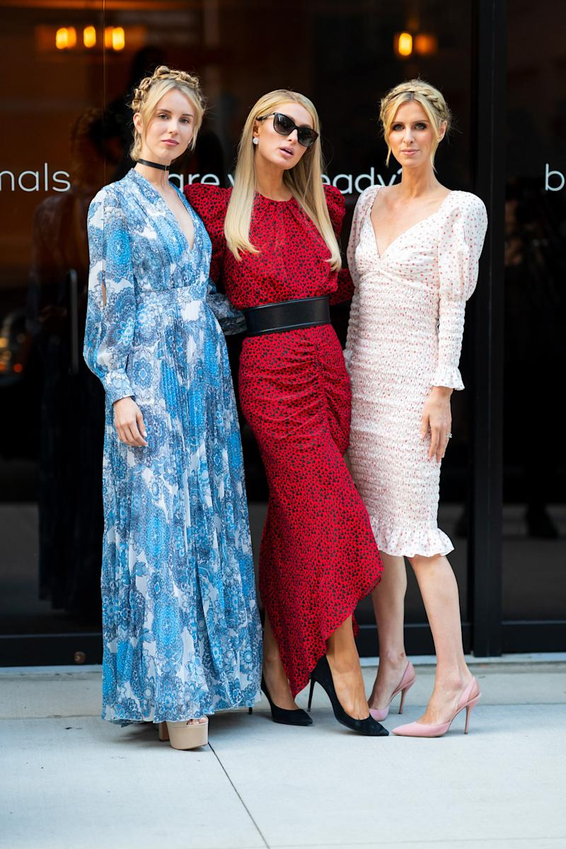 NEW YORK, NEW YORK - MAY 22: (L-R) Tessa Hilton, Paris Hilton and Nicky Hilton attend 2019 Animal Haven Benefit at Tribeca 360 on May 22, 2019 in New York City. (Photo by Gotham/GC Images)