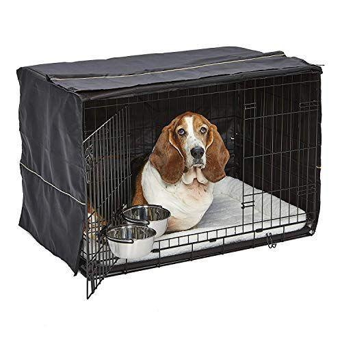 """<p><strong>MidWest Homes for Pets</strong></p><p>amazon.com</p><p><strong>$89.99</strong></p><p><a href=""""https://www.amazon.com/dp/B07D1XQ5NV?tag=syn-yahoo-20&ascsubtag=%5Bartid%7C10055.g.34726230%5Bsrc%7Cyahoo-us"""" rel=""""nofollow noopener"""" target=""""_blank"""" data-ylk=""""slk:Shop Now"""" class=""""link rapid-noclick-resp"""">Shop Now</a></p><p>For getting your new furry friend all set up, you can't go wrong with this starter kit from our favorite crate manufacturer. It comes with the crate, two bowls that snap right to the door, a comfy bedfor the inside, and a cover to turn the crate into a cozy den. </p>"""
