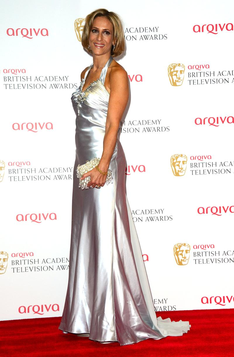 Emily Maitlis at the Arqiva British Academy Television Awards BAFTA in London, May 12th, 2013. (Photo by Jon Furniss/Invision/AP)