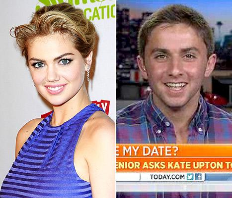 "Kate Upton Calls Jake Davidson on TODAY: ""I'd Love to Go With You"" to Prom"