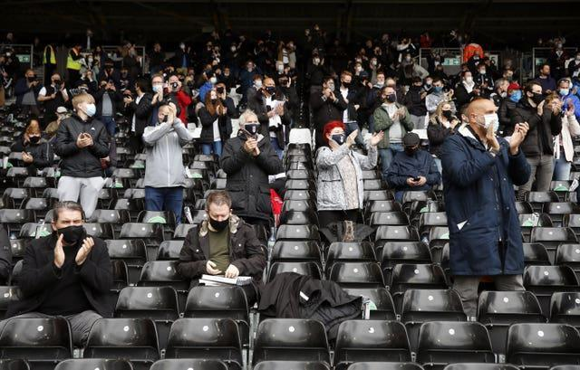 Fulham fans returned to Craven Cottage for the first time since December