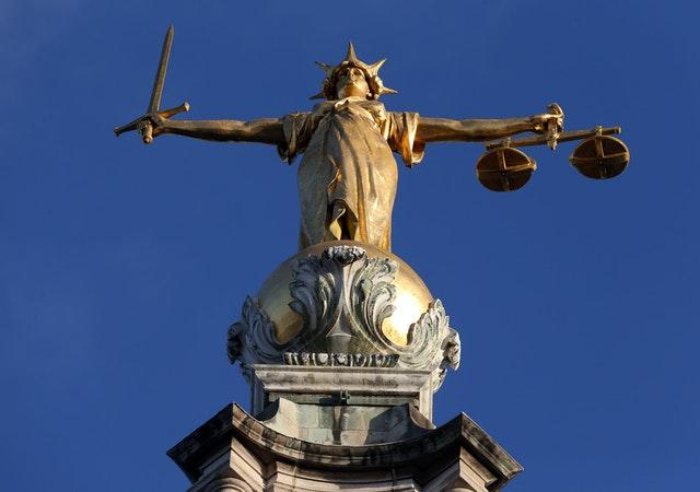 FW Pomeroy's Statue of Lady Justice atop the Central Criminal Court building at the Old Bailey, London (JOnathan Brady/PA)