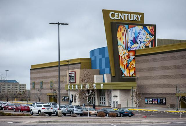 Century Aurora 16 movie theater is pictured in Colorado April 27, 2015. Colorado's long-awaited cinema massacre trial will begin on Monday with jurors asked to decide whether gunman James Holmes was insane when he killed a dozen moviegoers in 2012, or a calculating mass murderer who deserves execution. Arapahoe County District Court Judge Carlos Samour has said he expects the trial to take four months.REUTERS/Evan Semon