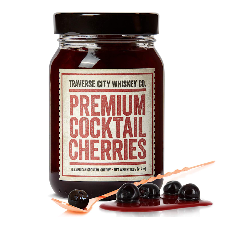 "<p><strong>Premium Cocktail Cherries</strong></p><p>amazon.com</p><p><strong>$19.95</strong></p><p><a href=""https://www.amazon.com/dp/B077YDC48D?tag=syn-yahoo-20&ascsubtag=%5Bartid%7C10063.g.34824733%5Bsrc%7Cyahoo-us"" rel=""nofollow noopener"" target=""_blank"" data-ylk=""slk:BUY IT HERE"" class=""link rapid-noclick-resp"">BUY IT HERE</a></p><p>Traverse City, Michigan is known as the Cherry Capital of the World, and it has a pretty great whiskey distillery, too. Put those two things together and you get delectable Balaton cherries slow cooked in copper pots that make for an excellent addition to an Old Fashioned or Manhattan, as well as non-alcoholic treats like ice cream sundaes or cheesecakes. It's a fun whiskey gift for drinkers and teetotalers alike.</p>"