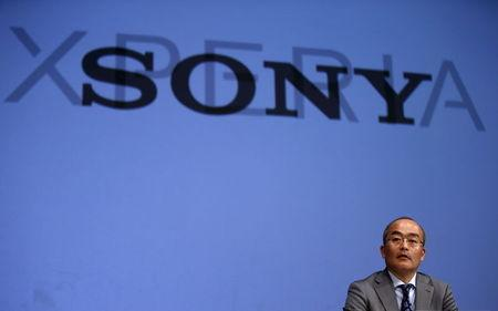 Sony Mobile Communications Inc President and CEO Hiroki Totoki speaks during a news conference to announce Sony's new Xperia Z4 smartphone in Tokyo April 20, 2015. REUTERS/Toru Hanai