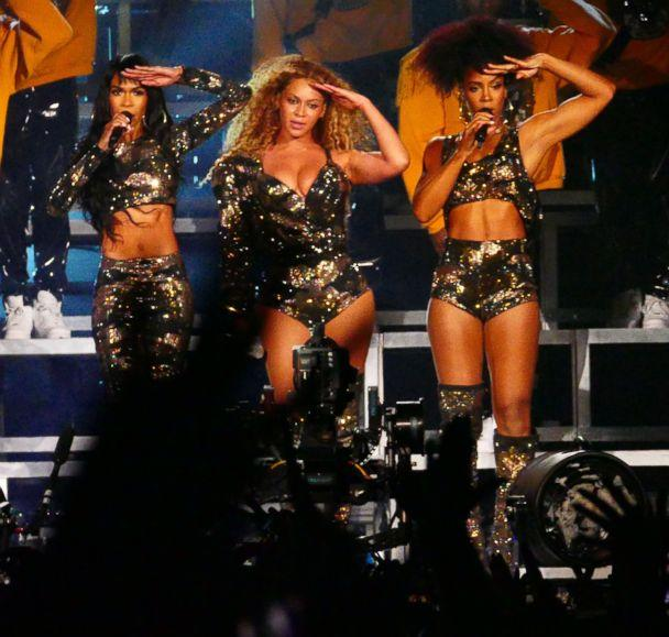 Destiny's Child reunite with Beyonce during 2018 Coachella Valley Music And Arts Festival Weekend 1 at the Empire Polo Field in Indio, Calif., April 14, 2018. (Aced1500/Splash News)