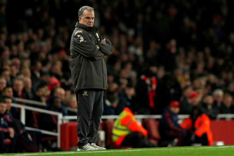 Feeling the strain: Leeds manager Marcelo Bielsa has taken his team to the brink of the Premier League