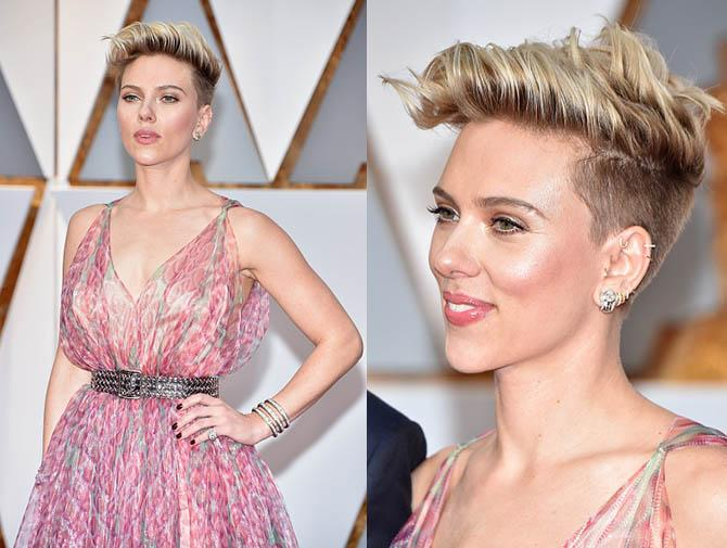 HOLLYWOOD, CA - FEBRUARY 26: Actor Scarlett Johansson attends the 89th Annual Academy Awards at Hollywood & Highland Center on February 26, 2017 in Hollywood, California. (Photo by Kevin Mazur/Getty Images)