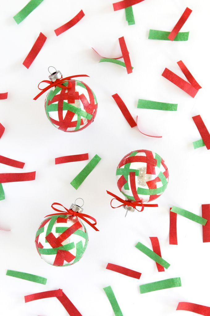 """<p>This easy handmade ornament proves you can make something festive out of a single craft supply: washi tape.</p><p><em>Get the tutorial at <a href=""""https://thepapermama.com/2015/11/simple-confetti-diy-christmas-ornament/"""" rel=""""nofollow noopener"""" target=""""_blank"""" data-ylk=""""slk:The Paper Mama"""" class=""""link rapid-noclick-resp"""">The Paper Mama</a>.</em></p><p><a class=""""link rapid-noclick-resp"""" href=""""https://www.amazon.com/Christmas-Decorative-Projects-Wrapping-Supplies/dp/B08F9WCJW3?tag=syn-yahoo-20&ascsubtag=%5Bartid%7C10072.g.34443405%5Bsrc%7Cyahoo-us"""" rel=""""nofollow noopener"""" target=""""_blank"""" data-ylk=""""slk:SHOP HOLIDAY WASHI TAPE"""">SHOP HOLIDAY WASHI TAPE</a></p>"""