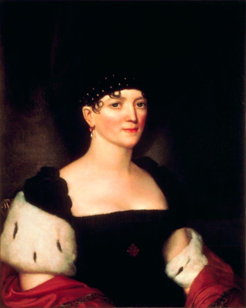 "<p>Before her husband became president, Elizabeth Kortright Monroe <a href=""https://www.britannica.com/biography/Elizabeth-Monroe"" rel=""nofollow noopener"" target=""_blank"" data-ylk=""slk:lived abroad"" class=""link rapid-noclick-resp"">lived abroad</a> in Paris and London for four years. Used to European fashion, she usually wore cap sleeve dresses and shawls at White House functions. Her adoption of French clothing combined with her physical beauty <a href=""http://www.firstladies.org/biographies/firstladies.aspx?biography=5"" rel=""nofollow noopener"" target=""_blank"" data-ylk=""slk:earned her the nickname"" class=""link rapid-noclick-resp"">earned her the nickname</a>, ""La Belle Americane.""</p>"