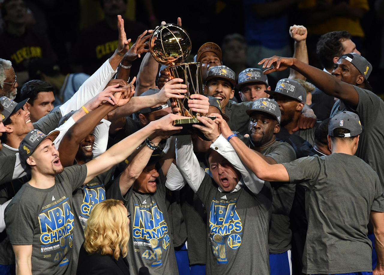 """In 2015, Steph Curry and the Golden State Warriors beat the Cleveland Cavaliers to earn their franchise's first NBA championship since 1975. The following year, LeBron James and the Cavaliers came back with a vengeance and won Cleveland's first championship in franchise history, according to <a href=""""https://www.nytimes.com/2016/06/20/sports/basketball/golden-state-warriors-cleveland-cavaliers-nba-championship.html""""><em>The New York Times</em></a>. The intense rivalry between the two teams kept going for two more years as they continued to face off for the title and break new records for their respective teams. But in the end, Steph and the Warriors came out on top as three-time NBA champs, taking both 2017 and 2018 wins against Cleveland."""
