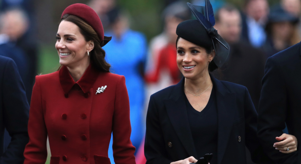 The Duchess of Sussex faced harsh criticism and comparison to her sister-in-law the Duchess of Cambridge after releasing a video for Archie Mountbatten-Windsor's first birthday (Getty Images).