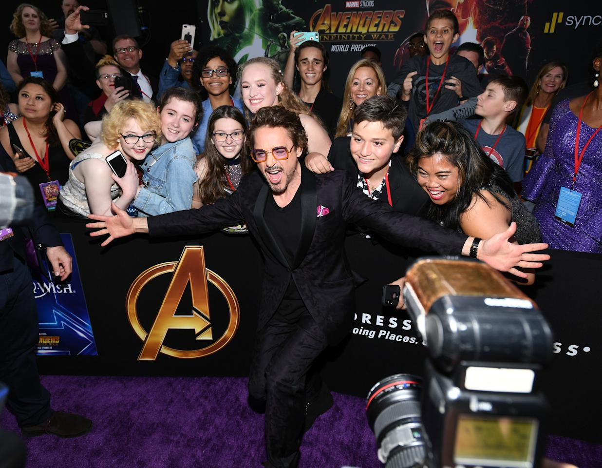 <p>The actor who plays Tony Stark — and Iron Man — always knows how to steal the show. (Photo: Getty Images) </p>
