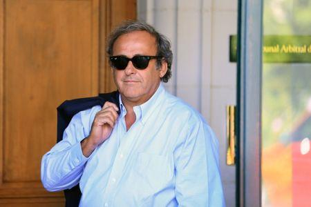 Platini arrives at the Court of Arbitration for Sport in Lausanne
