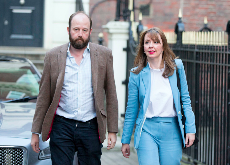 Nick Timothy and Fiona Hill leave Conservative Party HQ after the election campaign (Picture: PA)