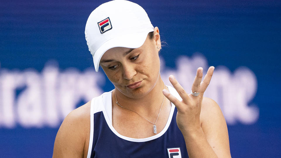 Ash Barty is likely not to contest the season-ending WTA Finals in November, over fears it will disrupt her preparation for the 2022 Australian Open. (Photo by TPN/Getty Images)
