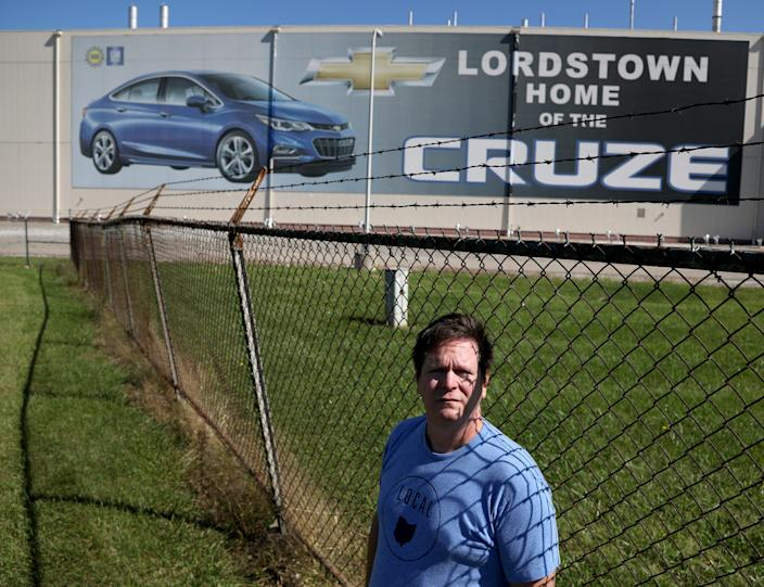 Mike Yakim at the empty GM Lordstown Assembly plant in Lordstown, Ohio on Wednesday, Sept. 18, 2019.