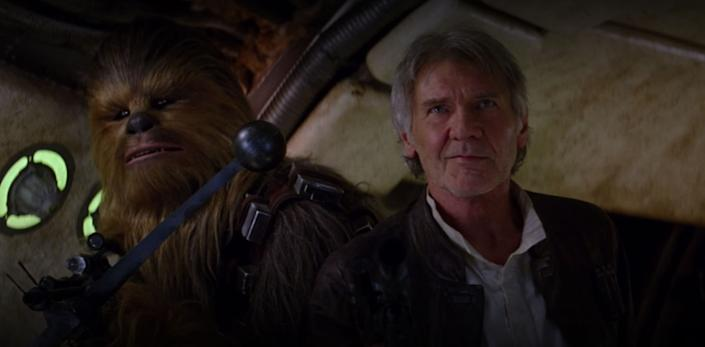 This is what happens when Harrison Ford is forced to answer a question on the Force. (Photo: Disney and Lucasfilm)