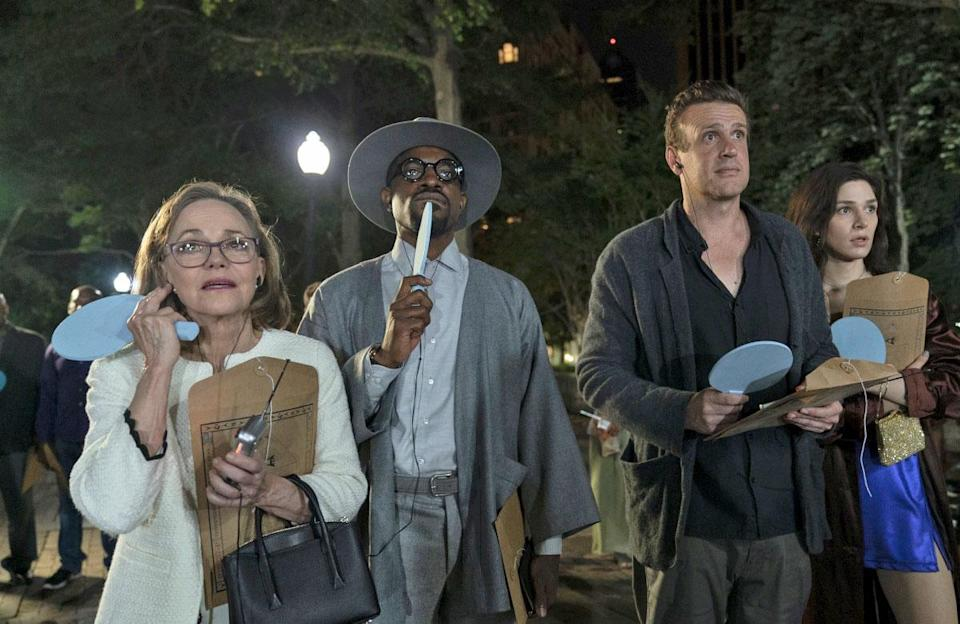 Jason Segel as Peter, Eve Lindley as Simone, Sally Field as Janice, Andre Benjamin as Fredwynn - Dispatches from Elsewhere