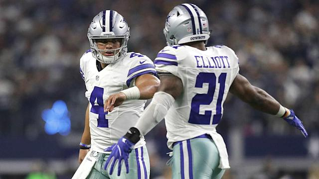 Darren McFadden and Alfred Morris have combined for five 1,000-yard rushing season and that is why Prescott thinks the Cowboys are fine.