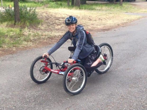 Lisa Franks is the president of the Saskatchewan Adaptive Mountain Bike Club. (Submitted by Lisa Franks - image credit)