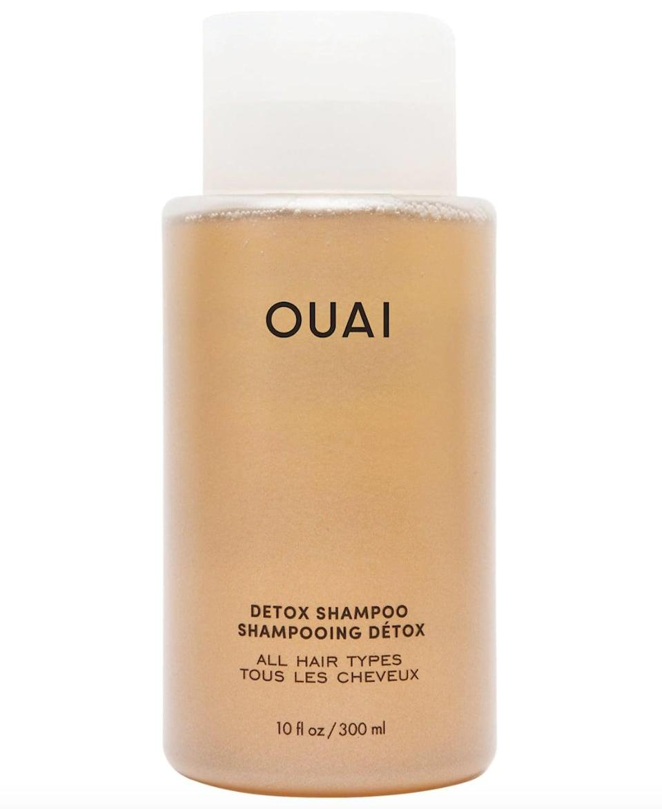 <p>Clarify your hair with the <span>Ouai Detox Shampoo</span> ($30), as it features ingredients like apple cider vinegar to wash away dirt and product buildup without drying out the hair.</p>