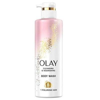 <p>Hyaluronic acid has always been a standout ingredient in skin-care products thanks to its hydrating abilities, but it's also the star of the show in the <span>Olay Nourishing Body Wash</span> ($8), which also features niacinamide to help moisturize and soothe the skin, among a handful of other things.</p>