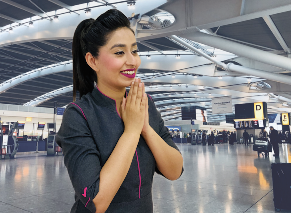<p>Big smile: promotional picture for new Indian airline, Flybig</p> (Flybig)