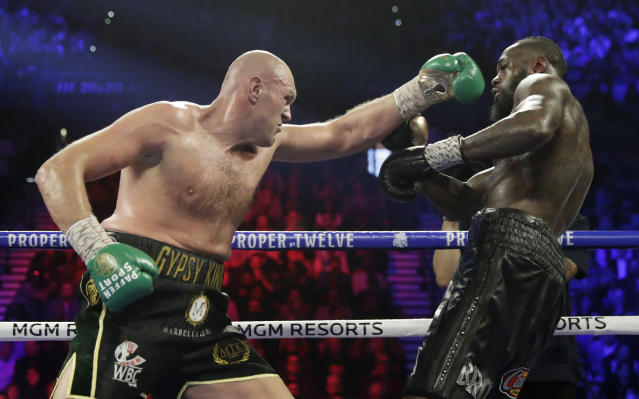 The Tyson Fury-Deontay Wilder rematch is once again on. (AP Photo/Isaac Brekken)