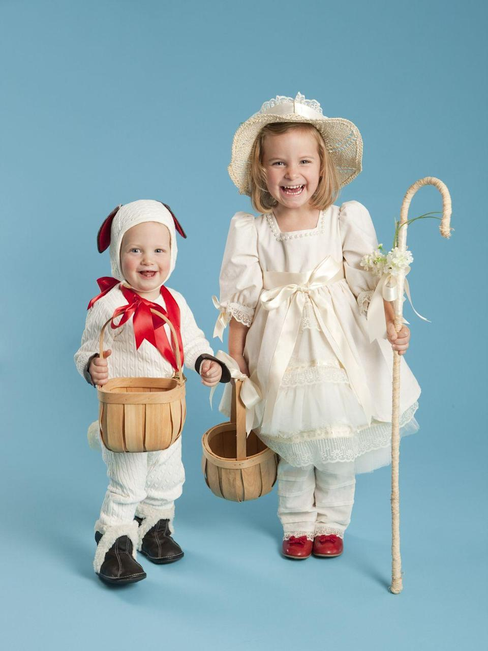 """<p>Any nursey-rhyme loving kid will be thrilled to dress up as Little Bo Peep or one of her wayward sheep. And with a frilly dress and cozy sheep outfit, this costume is absolutely adorable. </p><p><a class=""""link rapid-noclick-resp"""" href=""""https://www.amazon.com/Wooly-Sheep-Costume-Toddlers-Little/dp/B0085120TU/?tag=syn-yahoo-20&ascsubtag=%5Bartid%7C10055.g.33300912%5Bsrc%7Cyahoo-us"""" rel=""""nofollow noopener"""" target=""""_blank"""" data-ylk=""""slk:SHOP SHEEP COSTUMES"""">SHOP SHEEP COSTUMES</a></p><p><a class=""""link rapid-noclick-resp"""" href=""""https://www.amazon.com/Princess-Paradise-Polka-Costume-Multicolor/dp/B0056WR4YC/?tag=syn-yahoo-20&ascsubtag=%5Bartid%7C10055.g.33300912%5Bsrc%7Cyahoo-us"""" rel=""""nofollow noopener"""" target=""""_blank"""" data-ylk=""""slk:SHOP LITTLE BO PEEP COSTUMES"""">SHOP LITTLE BO PEEP COSTUMES</a></p>"""