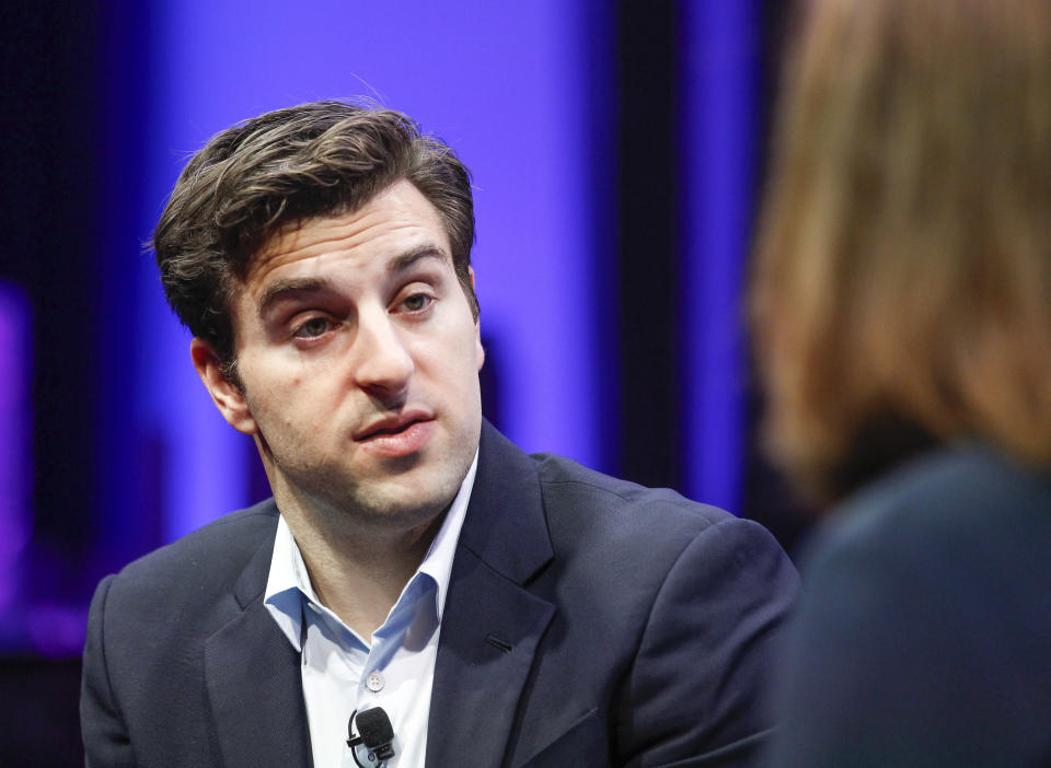 Brian Chesky speaks during the Fortune Global Forum - Day 3 at the Fairmont Hotel on November 4, 2015 in San Francisco, California. (Photo by Kimberly White/Getty Images for Fortune)